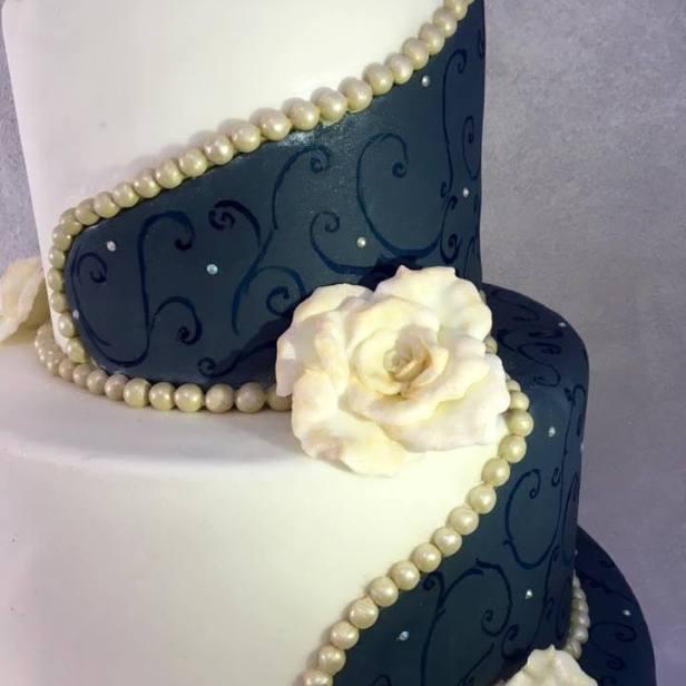 Torta Elegant blu - wedding cake