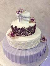 Torta Orchidea violet - wedding cake