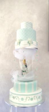 Torta Tiffany champagne - wedding cake